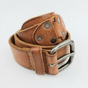 Club Monaco Made In Italy Brown Leather Belt 38